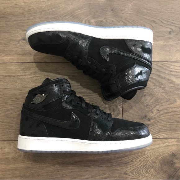 sale retailer dc1fc 9fc39 Air Jordan 1 Retro Hi Prem HC GG Black 8.5Y